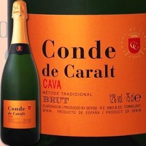 スパークリングワイン コンテ・デ・カラル・カバ・ブリュット スペイン  750ml カヴァ 辛口 金賞 wine sparkling|kbwine