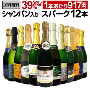 シャンパン スパークリングワイン 白 セット イタリア フランス スペイン 12本 wine set sparkling 750ml 辛口 第19弾|京橋ワイン 赤 白 セット wine