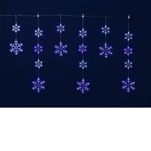 フローレックス KT-2716 6連ホワイトブルーLEDスノーフレイクガーランド メーカー直送品 同梱/代引不可【送料無料(沖縄・離島を除く)】|kcm-onlineshop