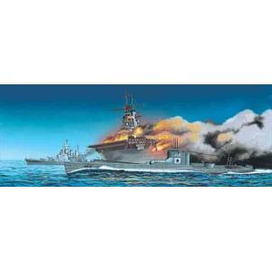 1/700 米国海軍航空母艦WASP(ワスプ)&日本海軍潜水艦 伊19/アオシマ010303 / プ...