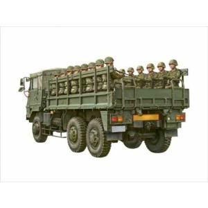 1/72 陸上自衛隊 73式大型トラック3t半(乗車隊員20体セット)/アオシマ012093|kcraft