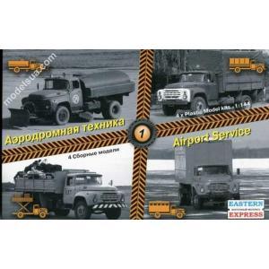 1/144 空港器材車(エアポート エクイップメント)セット#1(ZILトラック4種)/イースタンエキスプレス14600/ kcraft
