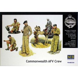 1/35 英・第8軍北アフリカ兵士5体+アラブ民間人1体&ラクダ【MB3564】|kcraft