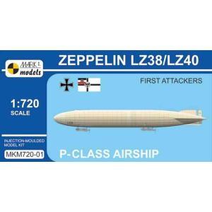 1/720 P級ツェッペリン LZ38/LZ40「ロンドン初空襲機」/マーク1モデルスMKM72001/|kcraft
