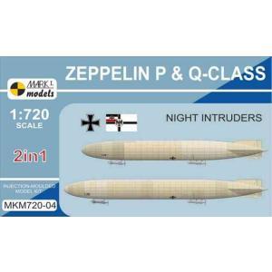 1/720 P級 & Q級ツェッペリン飛行船「夜中の侵入者」 2キット入り/マークワン72004/|kcraft