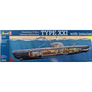 1/144 Uボート タイプXXI w/インテリア/レベル5078/