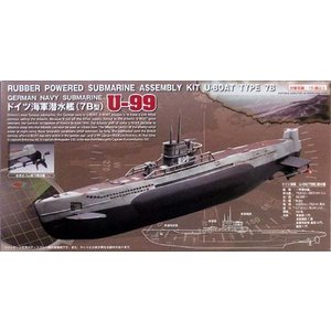 ゴム動力潜水艦 U-99ドイツ海軍潜水艦(7B型)/スタジオミドMM-303/