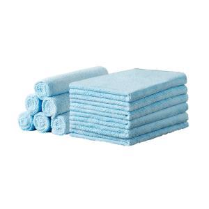 LUXIA ラクシア マイクロファイバークロス ブルー 12枚入り 液剤拭き取り 30cm×40cm|kdg