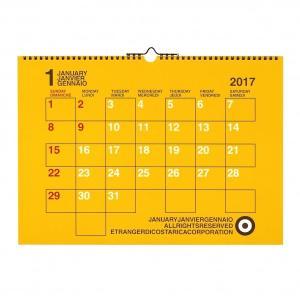 【etranger di costarica/エトランジェ・ディ・コスタリカ】A3カレンダー 壁掛け【カラー】<2017年1月から2017年12月対応|kdmbz