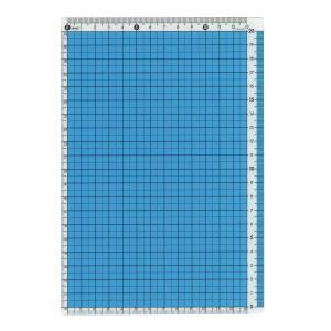 A5サイズ用 カラー方眼下敷 ブルー  CPK-A5-B|kdmbz