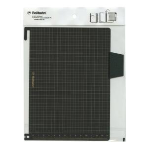 ロルバーン ポケット付メモ/ダイアリー A5サイズ用 下敷き ブラック  500532|kdmbz