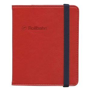 ロルバーンのリングタイプのポケット付メモ(M)を収納できる、合皮素材の専用カバー。本革のような細かな...
