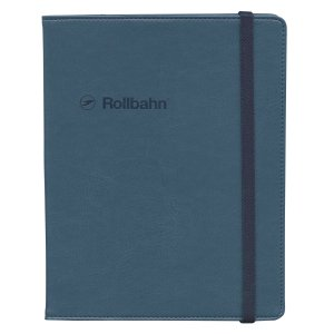 ロルバーンのリングタイプのポケット付メモ(A5)を収納できる、合皮素材の専用カバー。本革のような細か...
