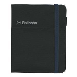 ロルバーンのリングタイプのポケット付メモ(L)を収納できる、布生地素材の専用カバー。右袖にリングメモ...