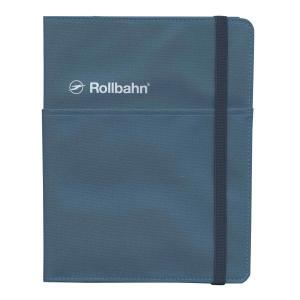 ロルバーンのリングタイプのポケット付メモ(A5)を収納できる、布生地素材の専用カバー。右袖にリングメ...