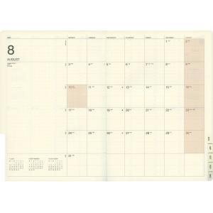 【LACONIC/ラコニック】A5 週間バーチカル レフト LALS57【イェロー】<2019年9月から2020年12月対応> LALS57-240-|kdmbz|03