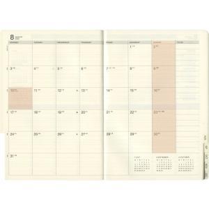 【LACONIC/ラコニック】B6 週間バーチカル レフト LIS57【ピンク】<2019年9月から2020年12月対応> LIS57-210-PK|kdmbz|03