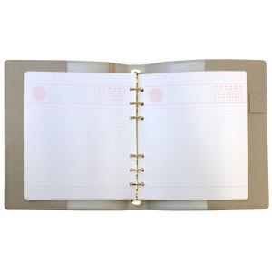 HB×WA5 理想をつくるマイノート リング径15mm  グレー システム手帳 リフィル入り ODR-DC04-GY|kdmbz|03
