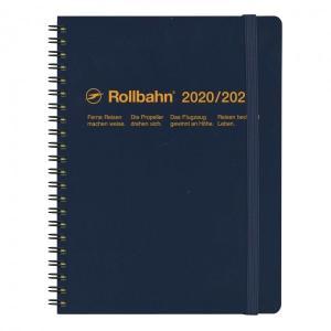 2020 3月始まり A5変型 月間ブロックロルバーンダイアリーA5 ダークブルー 300016 428の商品画像 ナビ