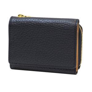 ルポ2 三つ折り財布  ネイビー 本革製 コンパクト 小型 RPS2-83-NB kdmbz
