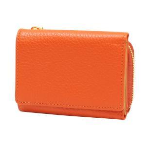 ルポ2 三つ折り財布  オレンジ 本革製 コンパクト 小型 RPS2-83-OR kdmbz