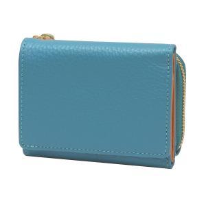 ルポ2 三つ折り財布  ブルー 本革製 コンパクト 小型 RPS2-83-BL kdmbz