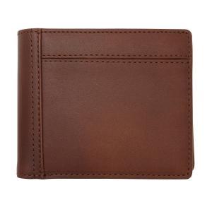 ボルボ 二つ折り財布  ダークブラウン 本革製 収納力 カード入れ VLX-107-05 kdmbz