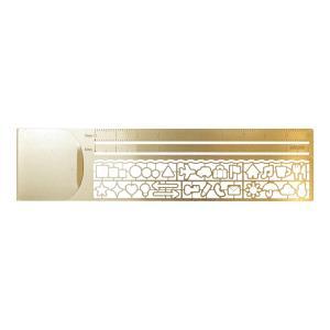 クリップルーラー 銅 ブックマーカー 定規 テンプレート 42230|kdmbz