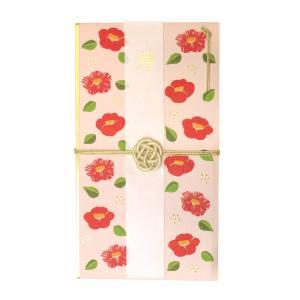 花づつみ 水引祝儀袋  刺繍椿  HPB-06|kdmbz