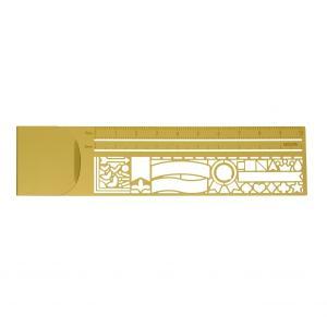 クリップルーラー 飾り罫柄 ブックマーカー 定規 テンプレート かわいい 42282006|kdmbz