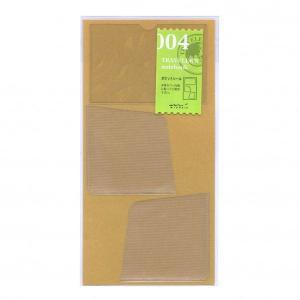 トラベラーズノートの本体用ポケットです。名刺、チケットなどを収納することの出来るポケット1個、A4用...