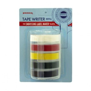 ペンコ テープライター リフィル 黒、深緑、黄、赤、白  DP115|kdmbz