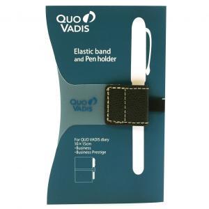 【Quovadis/クオバディス】ダイアリーバンド&ペンホルダー ビジネス/ビジネスプレステージ専用【ブラック】 qvband1015bk