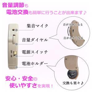 耳掛け式 集音器 小型 ケース付 片耳セット 電池式 簡単装着 調節可 かんたん メール便送料無料|ke-shop|04