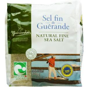 ゲランドの塩 粗塩 500g / フランス産 未精製塩 テーブルソルト 無添加 あら塩 パン材料 天日塩|ke-thi-fuudo-rabo