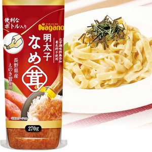 ナガノトマト 明太子なめ茸 ボトル入り 270g / ご飯のお供に めんたいこ えのきたけ 味付 なめたけ エノキ ボトル入り ごはんのおかずにそのまま使える|ke-thi-fuudo-rabo