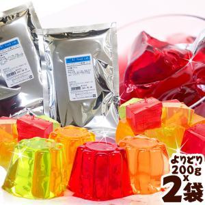 イナショク カップゼリーの素 よりどり2点 200gx2袋 / オレンジ 青リンゴ ぶどう パイナップル クール ピーチ グレープフルーツ コーヒーゼリー ストロベリー|ke-thi-fuudo-rabo