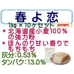 春よ恋 10kg (1kg×10袋) 強力粉 パン用小麦粉 / 送料無料 / 北海道産 100% 小麦粉 国産 / 天然酵母 ハルヨ 10キロ 【同梱不可】|ke-thi-fuudo-rabo|03