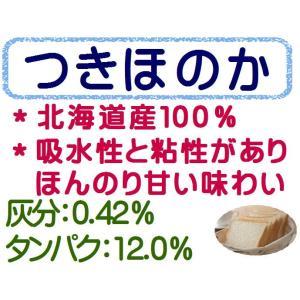 つきほのか 10kg(1kg×10袋) パン用小麦粉 ヤマチュウ / 北海道産 100% 強力粉 / パン作り 小麦粉 食パン ホームベーカリー 送料無料 10キロ 【同梱不可】|ke-thi-fuudo-rabo