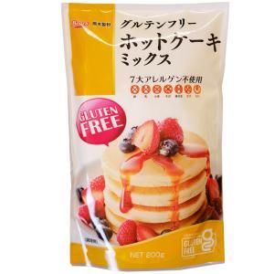 グルテンフリーホットケーキミックス 玄米粉 200g 熊本製粉 / 製菓 ホットケーキ スイーツ MIX粉|ke-thi-fuudo-rabo