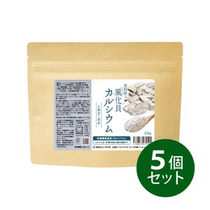 カルシウム 5個セット 100g×5 約250日分/健康食品の原料屋...