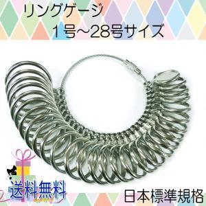 【レビューを書いてDM便送料無料】リングゲージ 金属製 1号〜28号 日本標準規格/指のサイズ 太さ 計測 測定 婚約指輪 結婚指輪 プレゼント レディース メンズ|keduka