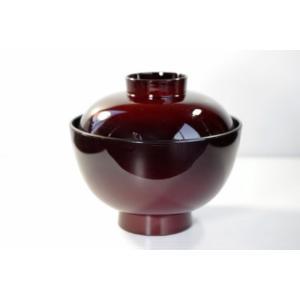食器洗浄機OK耐熱ワインレッド味噌汁椀・吸い物椀FK310-...