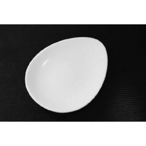 クリームカラーの卵形12.8cm小皿SMK★アウトレット品★|keepintouch