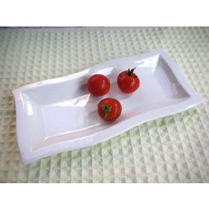 白い食器・トルチェ23cm長角プレートSNS★アウトレット品★ keepintouch