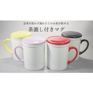 茶漉し付き蓋付カラーマグカップTOH★アウトレット品★ keepintouch