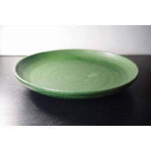灰グリーン25.4cmパスタ皿HFD★アウトレット品★ keepintouch