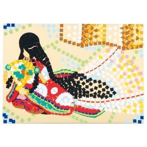 モザイクはり絵セット (38126) (メール便可能) 伝統工芸 工作 デザイン モザイク|keepon