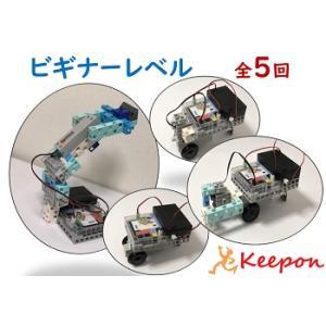 ロボットプログラミング通信講座 ビギナーレベル(全5回) キット代込 30ピースプレゼント付〜プレゼント用ブロックを選んでください|keepon