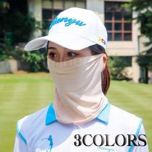 送料無料 ゴルフマスク フェイスカバー 2020夏用 フェイスマスク UVカット テニス ゴルフウェ...